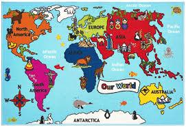 Kids World Map by Kids Ravishing Rugs Seymour Dugan