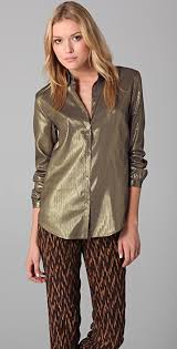 metallic blouse elizabeth and metallic blouse shopbop