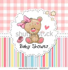 baby shower greeting card stock vector 500097427
