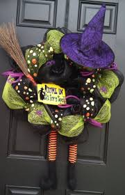 58 best fall mesh wreaths images on pinterest halloween ideas