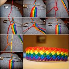 weave bracelet images How to diy weave rainbow color baubles bracelet jpg