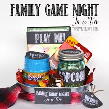 family gift basket ideas a gift in a tin family in a tin the diy