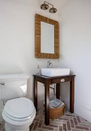 Bathroom Sink Console by Repurposed Sink Console With Brick Herringbone Pavers Cottage