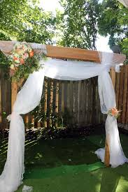 wedding arches using tulle wedding arch with tulle your meme source