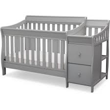 Gray Convertible Crib Delta Children Bentley S Convertible Crib N Changer Combo Gray
