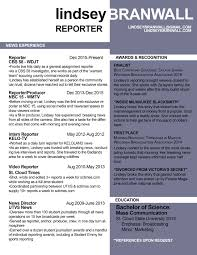 News Reporter Resume Example Best Images About Media Communications Resume Samples On Susan