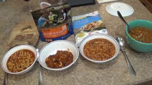 3 freeze dried chili mac taste test mountain house wise food
