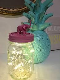 hand painted pink animal lid mason jar home decor kid u0027s room