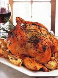 roast chicken with herb butter onions and garlic recipe