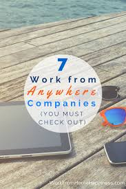 These Work From Home Companies 7 Work From Anywhere Companies You Must Check Out Work From Home