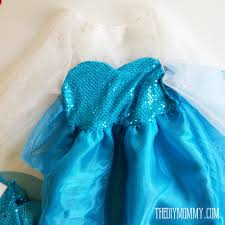 frozen dress for halloween free pattern and tutorial for a frozen inspired elsa dress costume