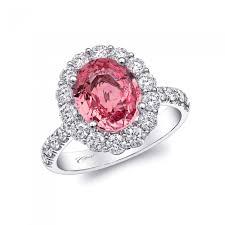 padparadscha sapphire engagement ring coast engagement ring of the week 2 80 carat padparadscha