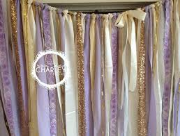 wedding backdrop garland lavender and gold sparkle sequin fabric backdrop garland shabby