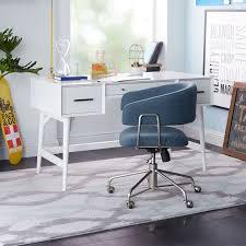 Office White Desk Mid Century Desk White West Elm