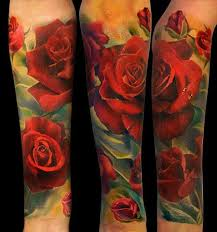 collection of 25 color flowers and tattoos