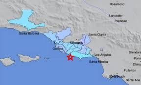 Earthquake Los Angeles Map by Magnitude 3 3 Earthquake Off Malibu Coast Shakes Part Of La