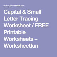 capital u0026 small letter tracing worksheet free printable
