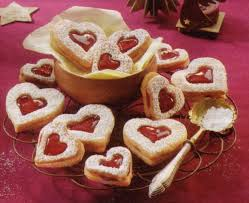 german christmas cookies linzer hearts u2022 best german recipes