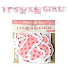 it s a girl ribbon it s a girl plaid ribbon banner uk baby shower co ltd