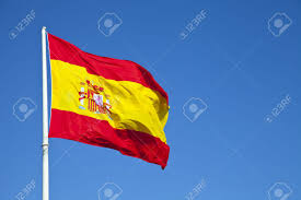Flags In Spanish Spanish Flag In Plaza De Colon Madrid Spain Stock Photo Picture