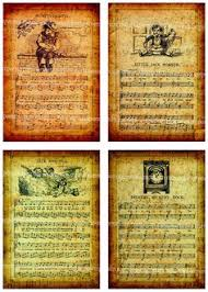 personalized monogram inital letter bookpage sheet music book page