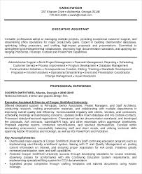 Sample Of Executive Assistant Resume by 10 Medical Administrative Assistant Resume Templates U2013 Free