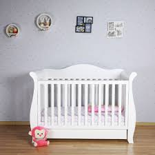 Sleigh Cot Bed White White Nz Pine White Walnut 3 In 1 Baby Sleigh Cot Toddler Bed Free
