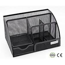 Mesh Desk Organizer Black Wire Mesh Metal Office Desktop Organizer