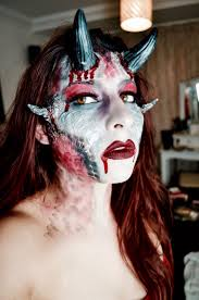 demon halloween look u2013 samantha wickes