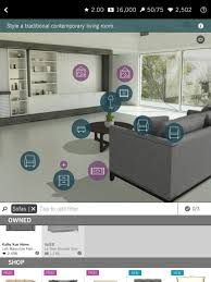 new app called Design Home that allows you to virtually design tons of unique spaces using real life furniture you can actually purchase