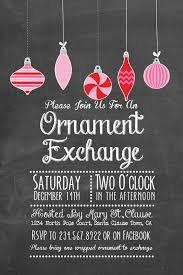 printable chalk style ornament exchange