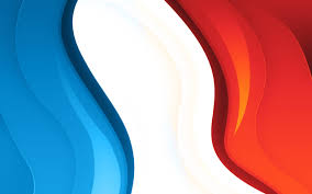 White Blue Orange Flag Abstract French Tricolour Abstract Flag Color Symbol Blue White