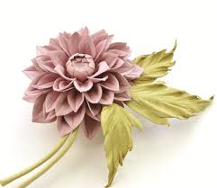 flower corsage dusty pink leather dahlia flower corsage presentperfect