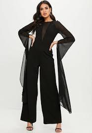 s sleeve jumpsuit black mesh sleeve jumpsuit missguided