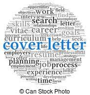 clipart of cover letter word cloud concept with great terms such