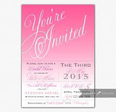 pink bridal shower invitations printed or printable wedding
