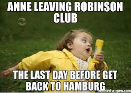 Anne Meme - anne leaving robinson club the last day before get back to hamburg
