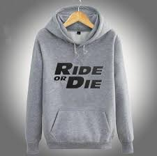 fast and furious hoodie for men ride or die sweatshirt fleece