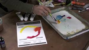 liquitex heavy body primary color mixing youtube