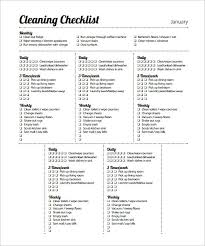 Bathroom Cleaning Schedule Form Cleaning Schedule Template House Cleaning Checklist Cleaning