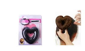 bun accessories new heart shaped hair disk hair bun accessories groupon