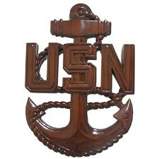 cpo wooden anchor plaques for u s navy e7 chief petty officers