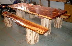 nice wood picnic table with detached benches diy picnic table with