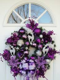 purple and silver wreath 47 wreaths to