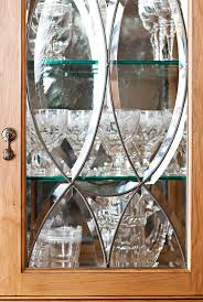 Stained Glass Kitchen Cabinet Doors by Distinctive Kitchen Cabinets With Glass Front Doors Traditional Home