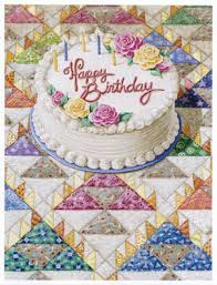 barker s quiltscapes note card birthday cake
