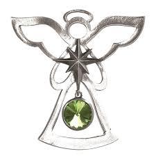 birthstone ornament salisbury august birthstone angel ornament peridot silver