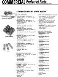 RHEEM WATER HEATER PARTS GUIDE PDF