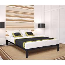 Wood And Metal Bed Frame Size Simple Black Metal Bed Frame Platform With Wooden Slats