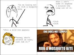 Mosquito Meme - mosquito bite rage by anj100 on deviantart